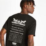 Pánské tričko Levi's® RELAXED GRAPHIC TEE 2H TEXT MINERAL BLAC 6997800320