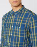 Pánská košile Wrangler LS 2 PKT FLAP SHIRT LEMON CHROME